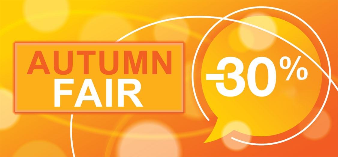 Autumn Fair 30% off